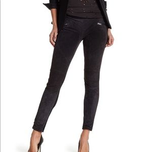 NWT BLANKNYC Suede Leather Panel Leggings Size 24
